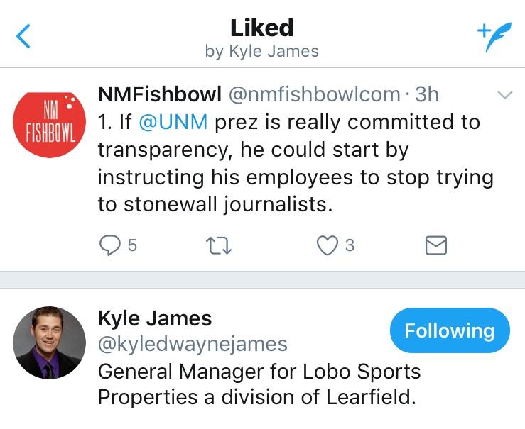 Kyle James tweet